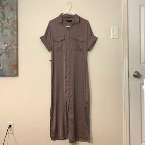 Long Dynamite Lavender Short Sleeve Maxi Dress S